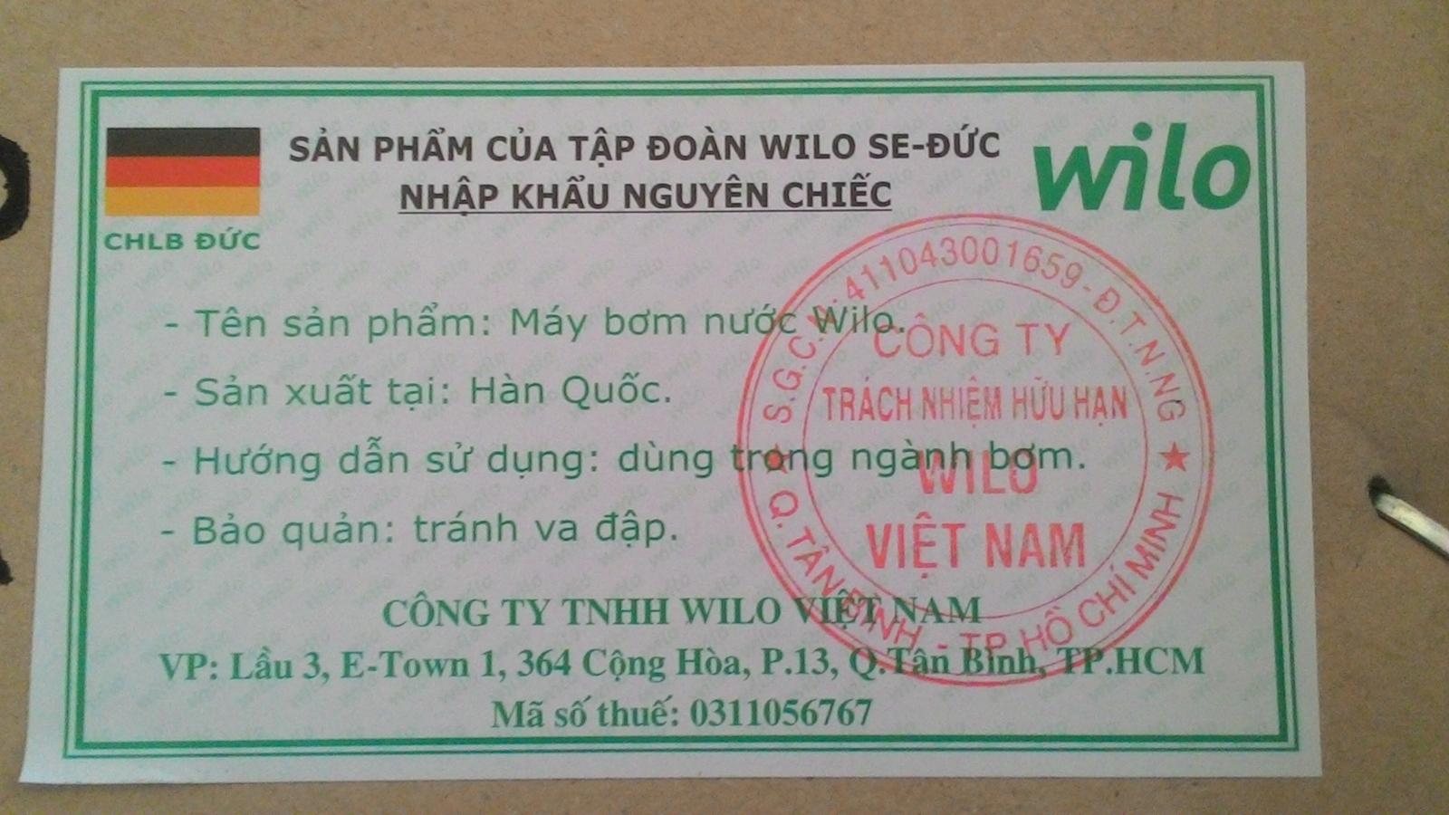 Tem wilo chính hãng